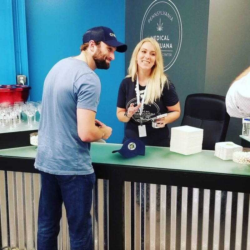 First official sale of EYO merchandise at the PA Medical Marijuana Education Center on September 28, 2018