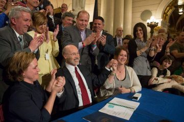 Governor Tom Wolf signs the Pennsylvania Medical Marijuana Act